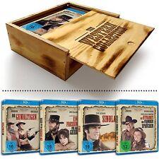 THE WESTERN COLLECTION (John Wayne, Clint Eastwood) 4 Blu-ray Discs Holzbox NEU