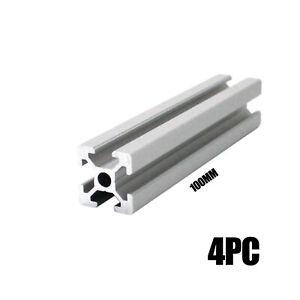 HFS(R) 4pc 2020 CNC EU Standard Anodized Linear Rail Aluminum Profile 100mm