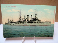 1907 Military Battleship Postcard USS Virginia