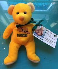 MARY MEYER Yellow WYOMING Bean Bag Bear Excellent Condition