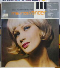 MAURICE VANDER SPECIAL PIANO RENDEZ-VOUS  FRENCH LP FONTANA 1958