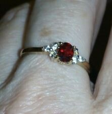 WOW Super Rare 0.54cts Songea Ruby & White Sapphire 9K GOLD Ring SUPER RARE GEM,