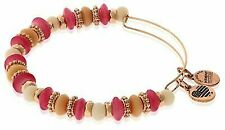 Alex and Ani Women's Horizon Coral Bangle Bracelet Shiny Rose Expandable