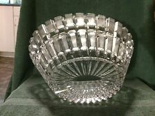 "LARGE Vintage CRYSTAL GLASS 11"" Oval PLANTER VASE - Punch BOWL - Cachepot - DISH"