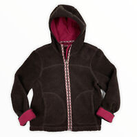 LL Bean Pile Sherpa Hooded Jacket Brown Women's Small Design Accent