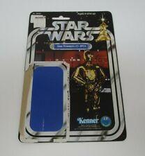 1977 See-Threepio C-3PO 12 Back STAR WARS Kenner Vintage Original Card Back