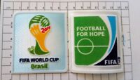 Patch Coupe du Monde Brésil 14 FIFA + patch Football for Hope Allemagne France