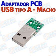 Adaptador Conector USB Tipo A Macho 2.0 con placa PCB - Arduino Electronica DIY
