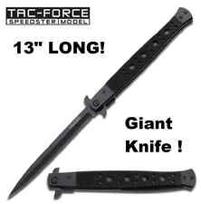"GIANT 13"" Tac Force Speedster Linerlock Stiletto Assisted Opening Knife NEW HUGE"