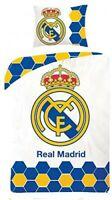 Set Cama Real Madrid Blanco Emblema Funda Nórdica 140x200cm Y Almohada Original