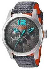 Hugo Boss Orange Mens Paris Grey Fabric Strap Grey 1513379 Watch - 22% OFF!