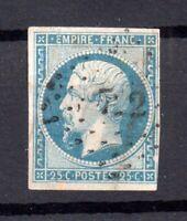 France 1853 25c blue (Napoleon) imperf fine used #15 WS16870
