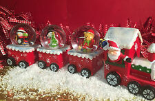 Father Christmas Snow Globe Train Carriage Ornament ~ Penguin Snowman Teddy 096