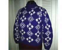 Nordstrom Point of View Soft Lambswool/Angora Graphic Design Sweater Sz Small