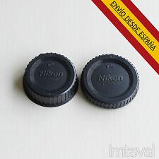 TAPA CUERPO + TAPA LENTE TRASERA F MOUNT para Nikon CÁMARA D3200 D5100 D90 D7000