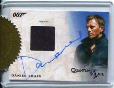 James Bond Autographs & Relics 6 Case Inc. Autographed Costume Daniel Craig