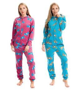 1Onesie Womens Horse Print Hooded All In One Onezee Fleece Pyjamas Loungewear