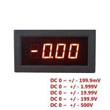 Digital Red LED Display DC Voltage Meter Voltmeter Can Test Positive Negative 5V