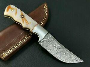 CUSTOM HAND MADE DAMASCUS STEEL HUNTING KNIFE CF-9515
