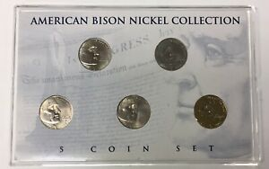 2005 American Bison Nickel Collection Colorized, 24kt, Unc, Holographic, P & D