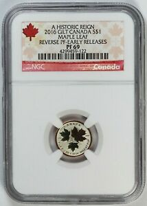 2016 NGC PF 69 Canada / Canadian Silver Maple Leaf  1/20 oz Coin - Reverse Proof