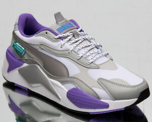 Puma x Mercedes AMG Petronas RS-X3 Men's Silver White Lifestyle Sneakers Shoes