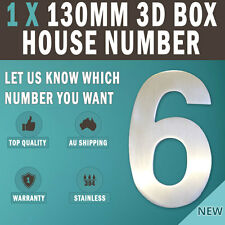 1 X 130 Mm 304 Stainless Steel 3d House Mail-box Number