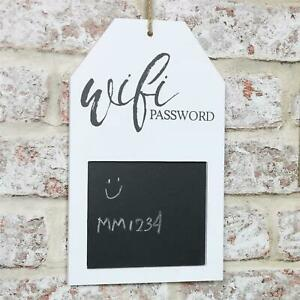 HANGING WOODEN WIFI PASSWORD CHALK BLACK BOARD PLAQUE INTERNET HOME HOTEL SIGN