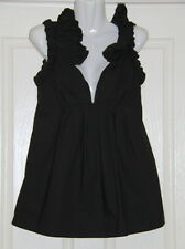 Womens size 8 black maternity dress top made by CITI