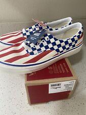 Vans Era 95 DX Anaheim Factory Checkerboard & Stripe  Red White Blue Size 11.5