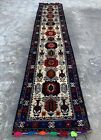 Authentic Hand Knotted Afghan Balouch Wool Area Runner 9 x 2 Ft (1196 HMN)