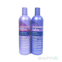 Clairol Shimmer Lights Shampoo Blonde & Silver & Conditioners 16 oz