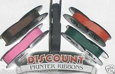 Olivetti Lettera 32 Typewriter Ribbons - Pink Purple Red Green Black Ink (5 pk)