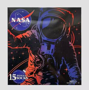 Men's NASA Space Rocket 15 Days of Socks Advent Calendar Gift Lot 12+3