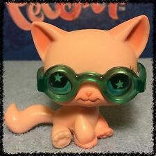 Littlest Pet Shop LPS PINK SITTING SHORT HAIR CAT STAR EYES # 959 w/ SUNGLASSES