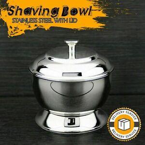 100% German Stainless Steel Men's Shaving Bowl Mirror Polished Barber Salon Bowl