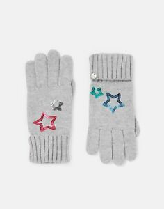 Joules Womens Tilda Star Gloves - Grey Star - One Size