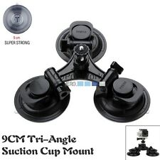 9cm Tri-Angle Suction Cup Mount Car Holder For GoPro Hero 3/3+/4/4s DSLR sj4000