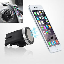 Black Car 360° Magnetic Cell Phone Car Air Outlet Holder Magic Stand Mount YX