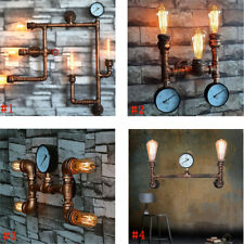 Industrial Vintage Wall Light Steampunk Retro Bronze Water Pipe Bar Lamp Sconces