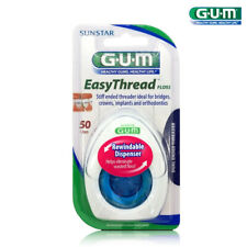 SUNSTAR GUM EasyThread Floss Dental Floss Dual Ended Threader 50 Uses New
