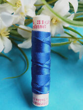 "257B Superb Coil Drawstring Silk Gutermann "" Blue Royal "" N° 316"
