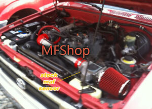 RED For 1989-1994 Toyota 4Runner Pickup 2.4L L4 Air Intake Kit + Filter