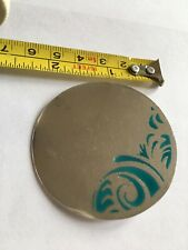 CONTEMPORARY DESIGNER ARTISAN STERLING SILVER ENAMEL LARGE DISC BROOCH PIN HM
