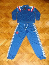 Ajax Amsterdam Dutch Soccer Tracksuit Holland Adidas Football Polyester Suit M L
