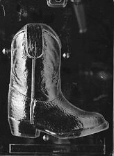 K075A & B  2Pc 3D Cowboy Boot Chocolate Candy Soap Mold with Instructions