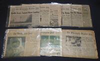 Vintage 1969 MOON LANDING Apollo 11 NASA 9 Newspaper Lot Phila Washington Post
