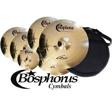 "BOSPHORUS Gold Serie Becken Set 20""/18""/16""/14"" + 10"" Splash + Cymbal Bag"