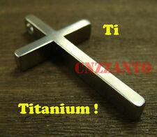 Big size Pure Titanium Ti Cross necklace pendant anti-allergy