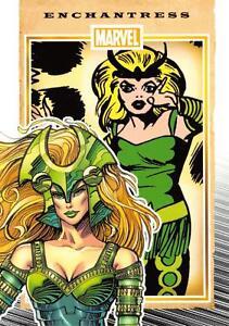 ENCHANTRESS / Marvel 75th Anniversary (2014) BASE Trading Card #28